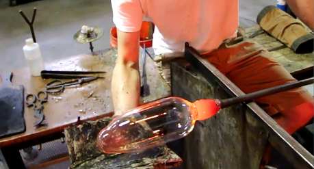How to blow glass